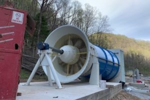 Axial Fan for a Coal Mine