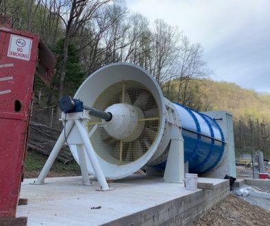 Axial Fan for a Coal Mine